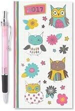 2017Slim semana para ver diario oficina en casa búhos y flores diseños diarios y un bolígrafo ideal regalo