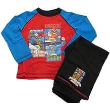 Rangers Megaforce Producto Oficial de Cama Infantil PJYAMAS Fuente de alimentación de Manga Larga para Pantalones