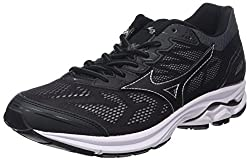 Mizuno Men's Wave Rider 21 Running Shoes, Multicolor (Blackblacksilver 09), 10 Uk44.5 Eu11 Us