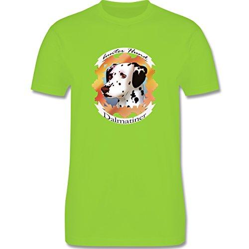 Hunde - Dalmatiner - bunter Hund - Herren Premium T-Shirt Hellgrün