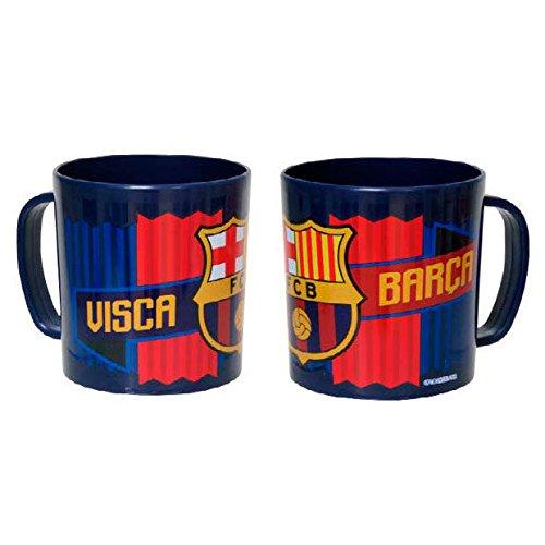CYP Imports MG-03-BC Taza plástico 260 ML, diseño Futbol Club Barcelona, Azulgrana, 0 Inches