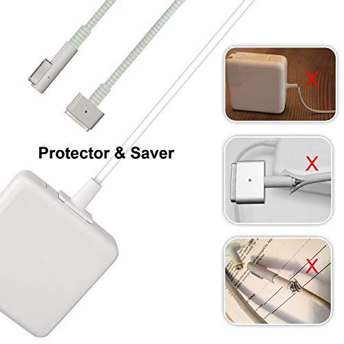 Protector de Cable de Carga para Macbook – Cable Adaptador de Ahorro Compatible con 45 W/60 W/85 W, protección de Doble Extremo Dual Ends Protector