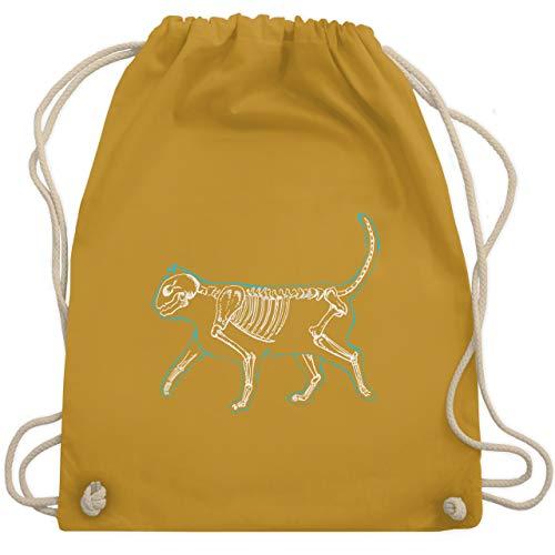 Katzen - spooky cat - Unisize - Senfgelb - WM110 - Turnbeutel & Gym Bag