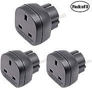 BS8546 Approved KSA/UAE/UK to EU/DE/FR Adaptor Plug, 3-Pin Electronic Appliance from KSA/UAE/UK Adapt to 2-Pin