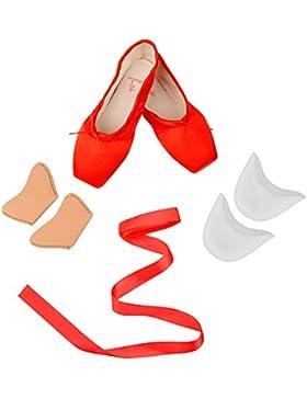 Skyrocket Satin Pointe Zapatos Ballet Zapatos de Punta de la danza para niña / mujer