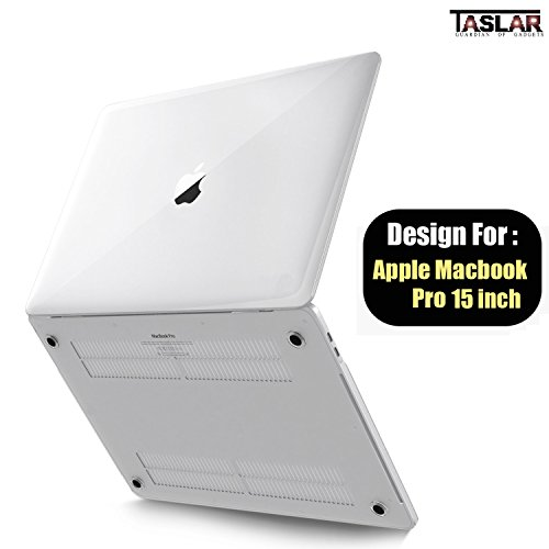 TASLAR Apple MacBook Pro with Touch Bar Clear Crystal Hard Case Cover (Crystal Hard Case For Macbook Pro 15, Clear)