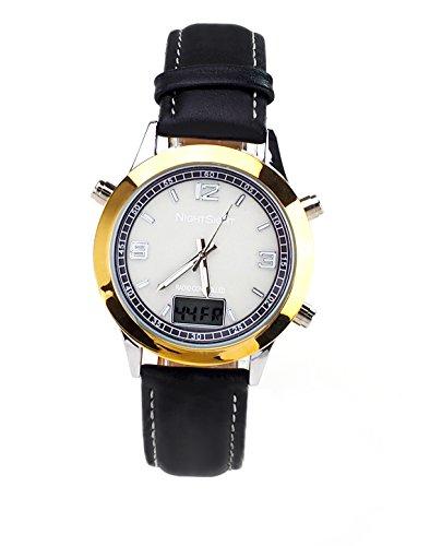 """Armbanduhr, leuchtend, Funkuhr, elektrolumineszierend """"Nightsight"""" (Zeit auch bei Nacht ablesbar)"""