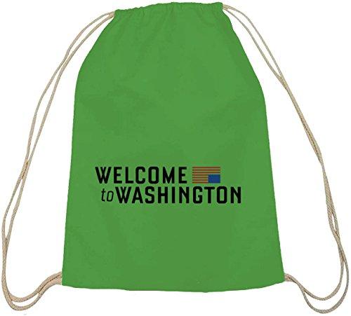 Ad Hoc - Benvenuti A Washington, Zaino In Cotone Verde Natura Borsa Sportiva