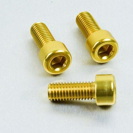 Aluminium Allen Bolt M8 x (1.25mm) x 20mm Gold