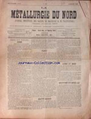 METALLURGIE DU NORD (LA) [No 649] du 08/07/1896 - FERS ET TOLES - PARIS - LOIRE ET MIDI - HAUTE-MARNE - MEURTHE-ET-MOSELLE.