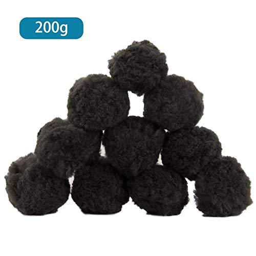 Wetour Schwarz Filter Balls 700g Für Sandfilteranlage Filtermaterial Poolfilter, 200g / 500g Pool Filterballs Für Sandfilter Alternativ, Pool Ausrüstung Reinigung