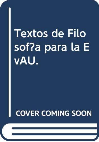 Textos de Filosofía para la EvAU.