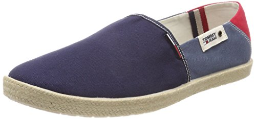 Hilfiger Denim Herren Tommy Jeans Summer Slip on Shoe Slipper, Blau (Ink-Jeans-Tango Red 902), 45 EU
