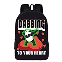 3D Printed Backpack Rucksack,Bookbag Travel Business Laptop Bag Outdoor Sports Waterproof Resistant Backpack for Girls Boys Shoulder Student Anime Panda Pattern Unicorn Backpack