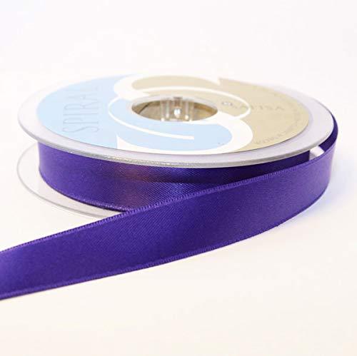 Satin-hutband (Hutband Satin-Band, 15 mm: je 2 x 2 m, Violett)