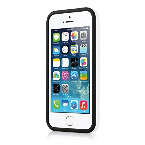 iPhone 5 5S SE Hülle - iHarbort® iPhone 5 5S Hülle Tasche case cover Schutzhülle Dual Layer-Schutz mit gebürstetem Fertigfabrikate Kunststoffdämpfungs [Tropfen Schutz] Combo Rüstung Defender Case Schu weiß