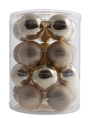 Moranduzzo 58000640020Christbaumkugeln, Mundgeblasen, Champagner metallic und Satin, 42x 60x 27cm 20 X 42 Satin
