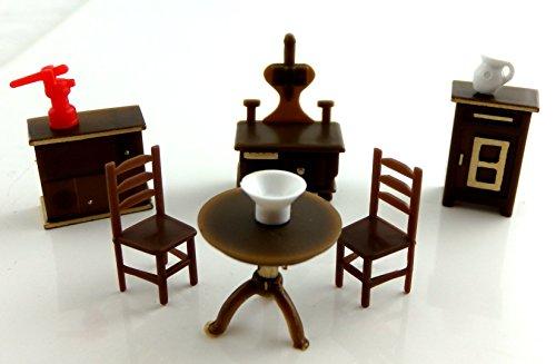 Casa Delle Bambole Miniature 1:48 Bilancia Cucina In Plastica Set Di Mobili