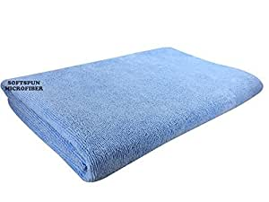 SOFTSPUN Microfiber Bath and Hair Care Towel, 70X140Cm (Sky Blue)