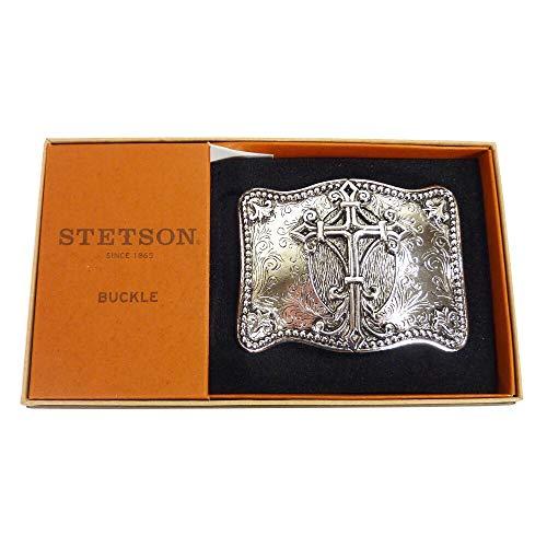 elschnalle Cross in einer attraktiven Präsentationsbox Gürtelschnalle Gürtelschließe Western Belt Buckle Westerngürtelschnalle Rodeo Vintage Silber ()