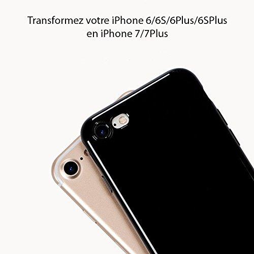 [EXTRASTOCK] Coque iPhone 6 Noir de Jais, Transformez votre iPhone 6 en iPhone 7 et Protégez le