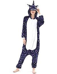 Adulte Kigurumi Pyjama Licorne Unisexe Anime Animal Costume Cosplay Combinaison Pyjama ou Déguisement