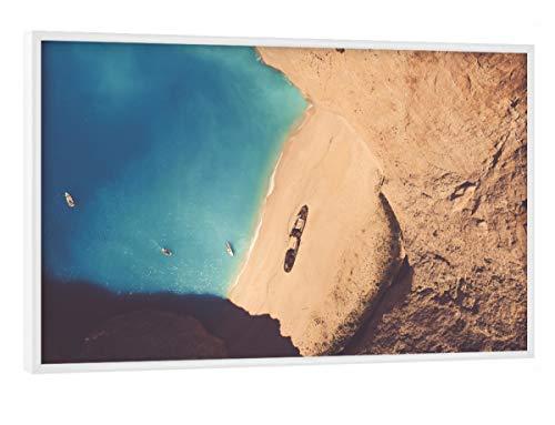 artboxONE Poster mit weißem Rahmen 30x20 cm Zakynthos, Greece von Künstler Marc Aurelius - Poster mit Kunststoffrahmen