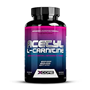 XCore 100% Acetyl L-Carnitine Capsules 500mg - High Quality Amino Acid Supplement for Weight Loss, Mentality and Energy Booster - Advanced Formula for Extra Power! - 90 Capsules by XCORE NUTRITION
