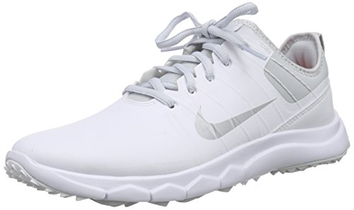 Nike FI Impact 2, Damen Golfschuhe, Weiß (White/Metallic Silver/Pure Platinum/Bright Crimson 100), 38 EU (4.5 Damen UK) Nike Schuhe Damen Golf