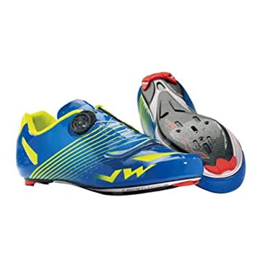 Northwave - Chaussures Route Torpedo Plus Bleu Jaune Fluo 2014 - Chaussures Route