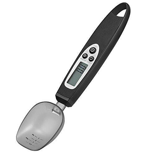 Jerrybox Digitale Einstellbare Löffelwaage Elektronische Küchenmesslöffel Mit Großem Lcd-Display Mit Küchenwaage Abnehmbare Große Löffel, Von 0,5G Bis 300G Für Kaffee, - 0.1 Unze Fall