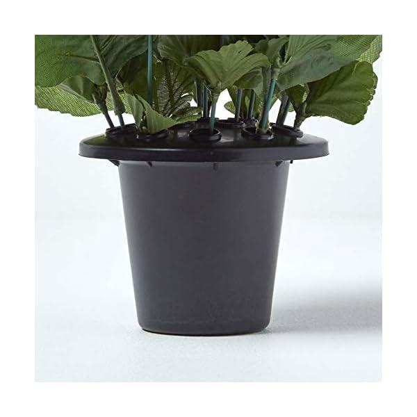 HOMESCAPES – Maceta de Flores Artificiales en jarrón de Tumba, Color Negro, Morado, Amarillo y Blanco, 30 x 14 cm
