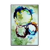 LIEFENGDA Ölgemälde Auf Leinwand Gemalt Von,Ring Schöne Bunte Kreis Kunst,100% Handgemalte Moderne Wandkunst Wohnzimmer Kein Rahmen Bild Home Decoration Malerei,80X120Cm