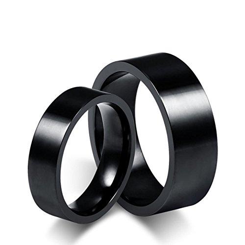 ROMQUEEN Schmuck Partnerringe Rosegold Silber Verlobungsringe Lesben Edelstahl Ring Blau Eheringe Schwarz Damengr.57 (18.1)&Herrengr.70 (22.3)