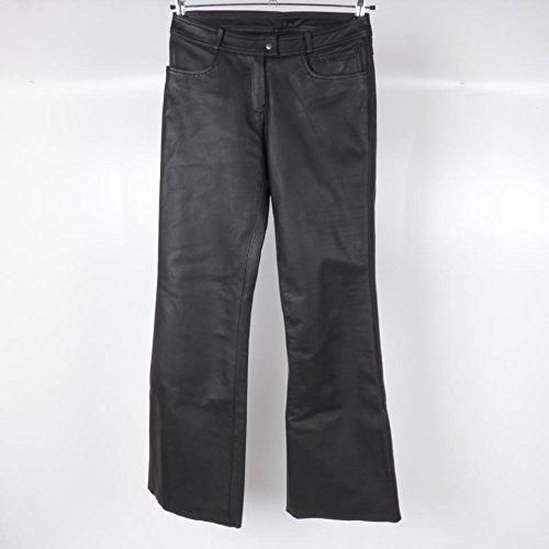 Pantalon de moto en cuir noir de vachette pour femme taille basse T 40 lady Neuf