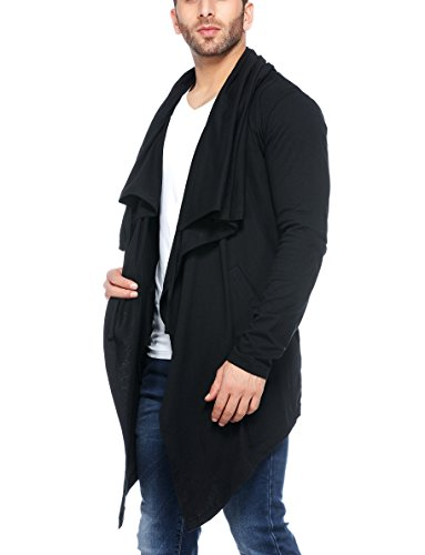 Tinted Men's Cotton Sinker Hooded Waterfall Cardigan - ANAGILE