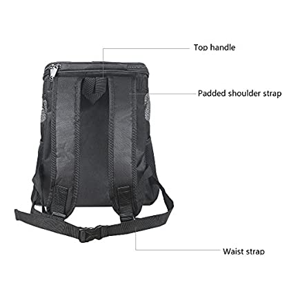 Ewolee Pet Carrier Backpack Breathable Shoulder for Puppy Up To 8lbs Head Out Travelling Pet Bag Free Collapsible Dog… 3