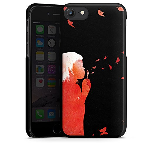 Apple iPhone X Silikon Hülle Case Schutzhülle Schmetterlinge Art Mädchen Hard Case schwarz