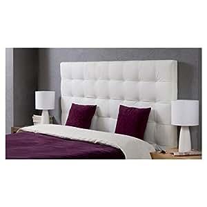 Tete de lit adulte 160x120 cm en PU blanc Midnight