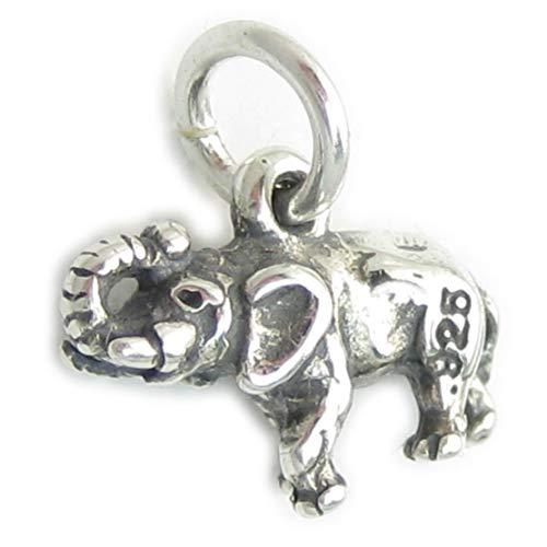 Tiny de Elefante de plata de ley 925 para pulsera. 1 x...