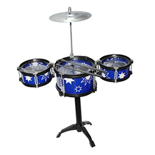 Street27 Cool Playing Drum Sound Musical Toy Drum Percussion Instruments Set Kids Play Fun Birthday Gift -3 Drums Blue #2
