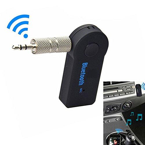 Wildlead kabelloser Bluetooth Audio-Empfänger, 3,5 mm, 2,4 GHz, mit AUX-Anschluss, Stereo-Musikempfänger und Freisprecheinrichtung fürs Auto -