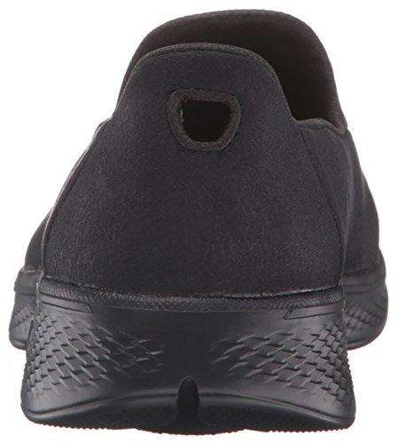 Skechers Damen Go Walk 4-Inspire Sneakers Schwarz (Bbk)