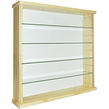 Showcase Ii Wall Mounted Glass Display Case Cabinet Unit