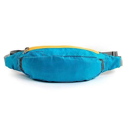 OUTAD Sac Banane Sports Étanche et Respirant pour Course / Jogging Résistant à Déchirure avec Trou à fil d'écouteur (5L / 18KG)