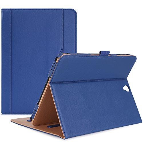 ProCase Samsung Galaxy Tab S3 9.7 Fall, Stand Folio Case Cover für Galaxy Tab S3 Tablette (9,7 Zoll, SM-T820 T825), mit mehreren Betrachtungswinkeln, Dokumentenkarte Tasche -Marine (Samsung-tablets Fällen)