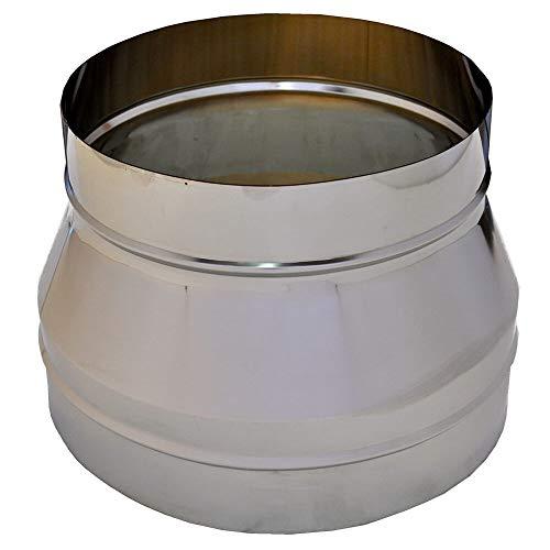 Tubo escape acero inoxidable para aumentar/reducir el tubo, díametro 80-300mm,accesorios tubo AISI...