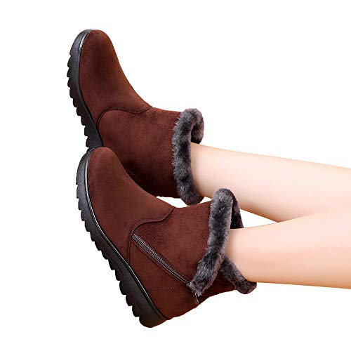 Preisvergleich Produktbild TianWlio Stiefel Frauen Winter Warm Schuhe Stiefeletten Boots Halten Schlüpfen Schneestiefel Weihnachten Damen Winter Knöchel Martin Kurz Schnee Stiefel Pelzschuhe Warme Schuhe
