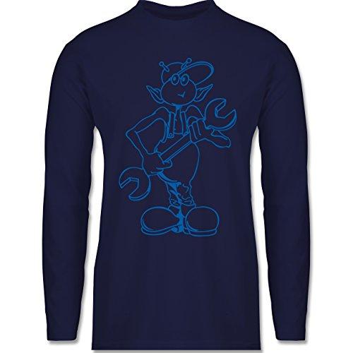 Typisch Männer - Mechaniker - Longsleeve / langärmeliges T-Shirt für Herren Navy Blau