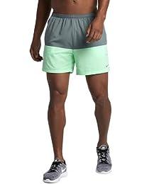 "Nike Flex 5"" Distance Pantalón Corto, Hombre, Verde Resplandor, M"
